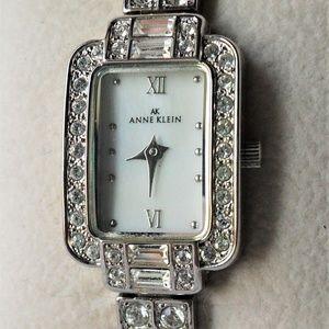 Anne Klein Swarovski Crystal Stainless Steel Watch